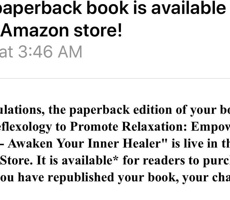 Best news! My book Foot Reflexology to Promote Relaxation is in print! Get your copy https://amzn.to/2RlRb3L #reflexology #relaxation #wellness #healing #stress #anxiety